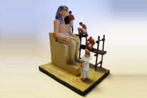 Cenas do Antigo Egito IV - Execução de uma escultura Real